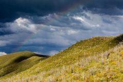 Rainbow over High Desert Hills