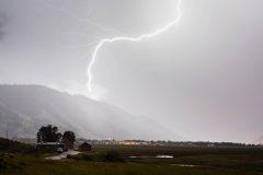 Lightning Striking Snow King
