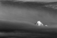 Grand Teton Poking Out of Fog