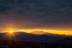 Sun Rising Near Four Peaks