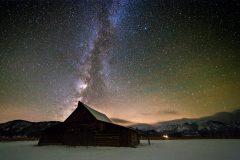 Milky Way over Moulton Barn