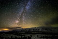 Milky Way Stretching from Teton Mountains