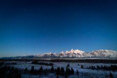 Dawn Sky Above Teton Mountains
