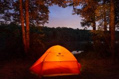 Glowing Tent on Mongaup Pond