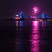 Fireworks over Tappan Zee Bridges