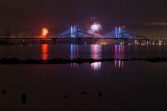 Tappan Zee Bridges on Fourth of July