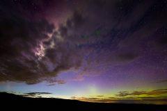 Auroras Above Wyoming High Desert