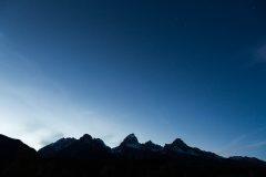 Big Dipper Above Teton Mountains