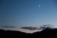 Moon and Venus Above Southern Tetons