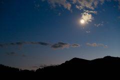 Moon Above Phillips Pass