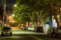 Downtown Piermont at Night