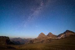Three Tetons and Milky Way Galaxy