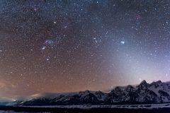 Orion over Teton Mountains