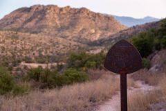 Arizona Trail Sign in Desert Mountains