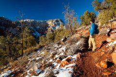 Hiker on Wilson Mountain Trail