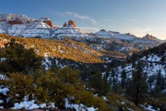Sandstone Buttes Rising Above Wilson Canyon