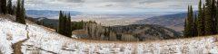 Snow Along Trail Above Teton Valley