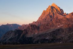 Hiker Below the Grand Teton