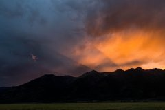 Stormy Sunset over Mountains