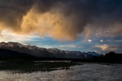 Colorful Stormy Sunset over Snake River