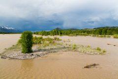 Snake River in Massive Spring Runoff