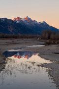 Tetons Reflected in Snake River