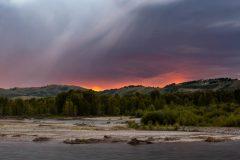 Rain Shower over Snake River Sunrise