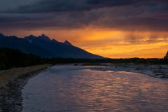 Storms over Tetons and Snake River
