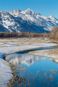 Early Winter on the Snake River in Wilson