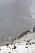 Hiker Below Warbonnet Peak