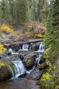 Waterfalls Pouring over Rocks Along Cascade Creek