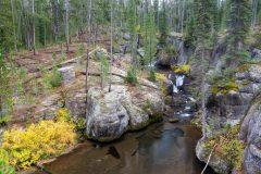 Rocky Chasm Around Cascading Falls