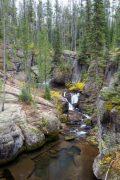 Cascade Creek Carving Through Rocks and Cliffs