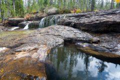 Pool Below Waterfall Along Cascade Creek