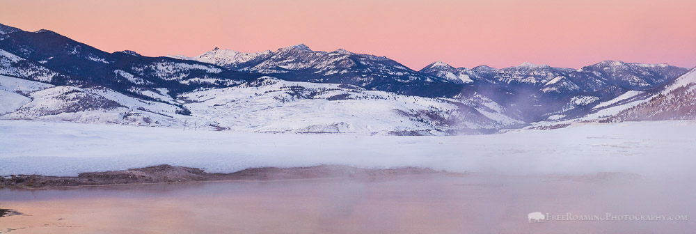 Dusk Panorama from Mammoth Hot Springs