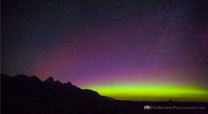 Northern Lights Over Grand Teton National Park