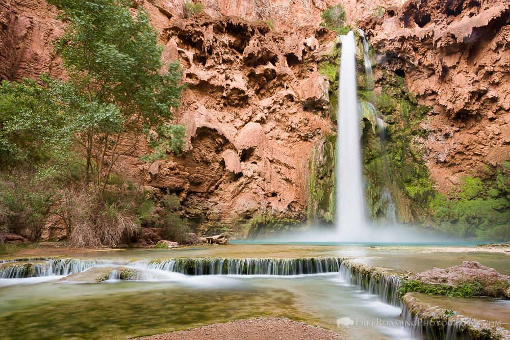 Mooney Falls on the Havasupai Reservation