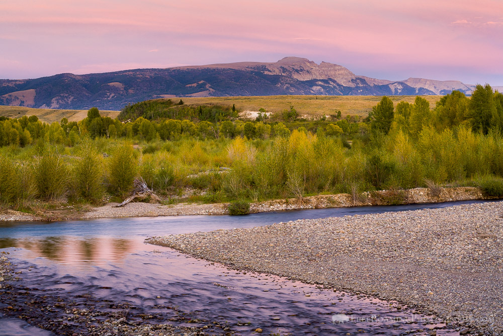 The Gros Ventre River With Early Fall Colors