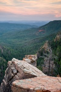 Mogollon Rim Overlook Near Pine, Arizona