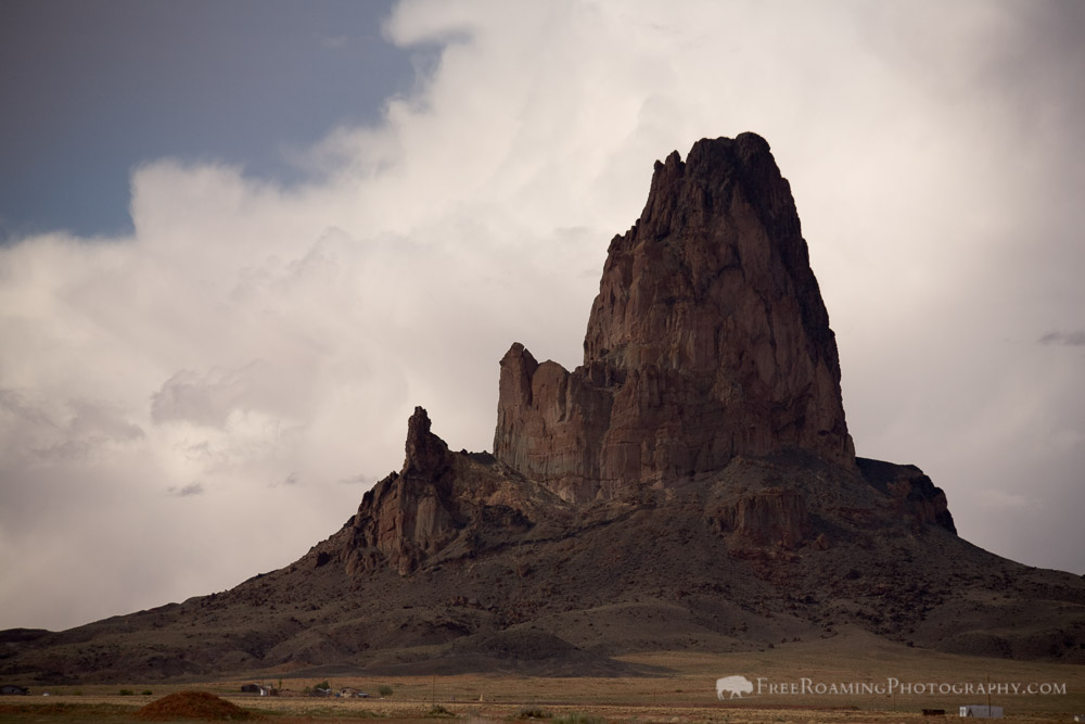 Agathla Peak and Thunderstorms in Monument Valley