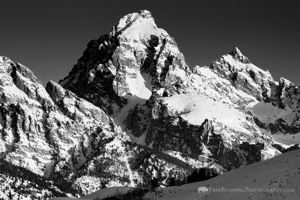 Black and White of the Grand Teton