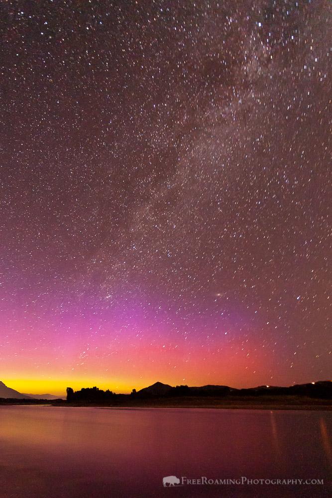Northern Lights Over the Snake River