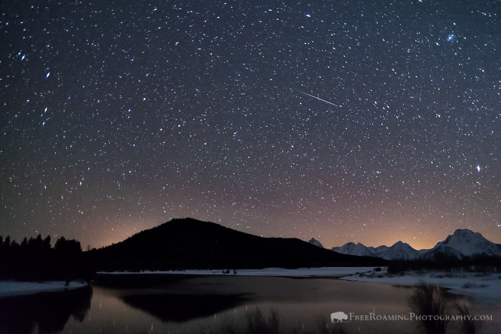 Lyrid Meteor Shower Over Oxbow Bend