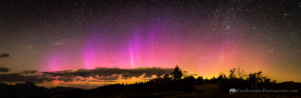 Northern Lights Over Jackson Hole, Wyoming