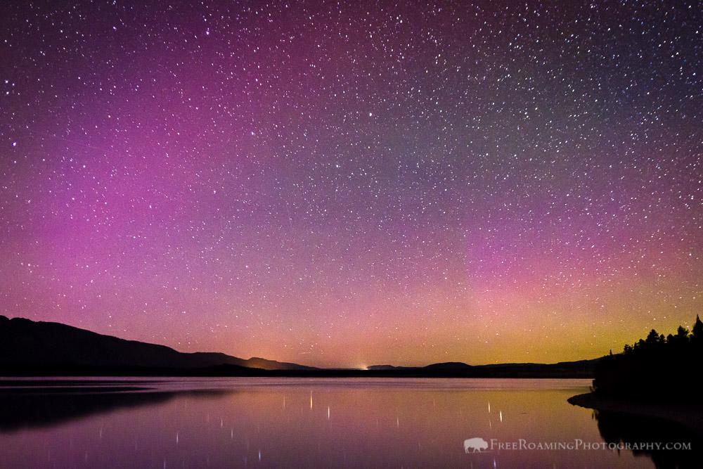 Northern Lights Over Jackson Lake