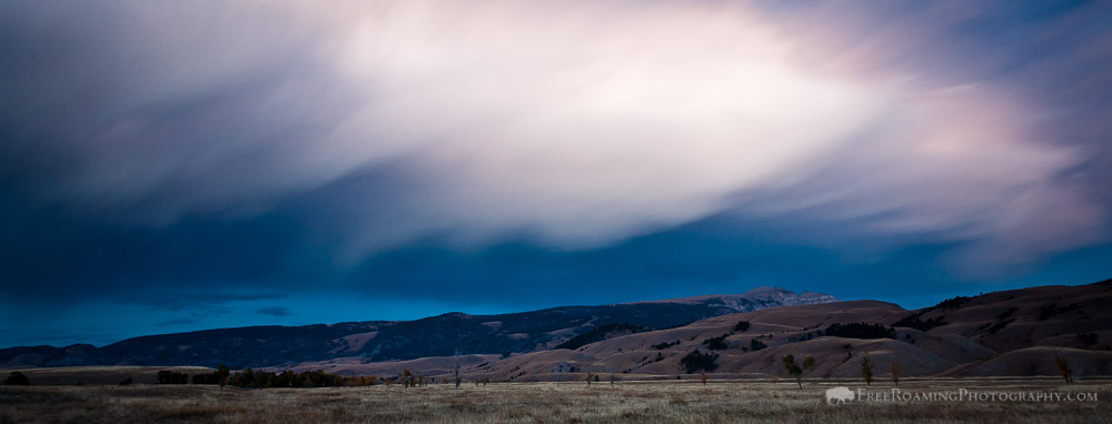 Storm Clouds Over Jackson Hole After Sunset