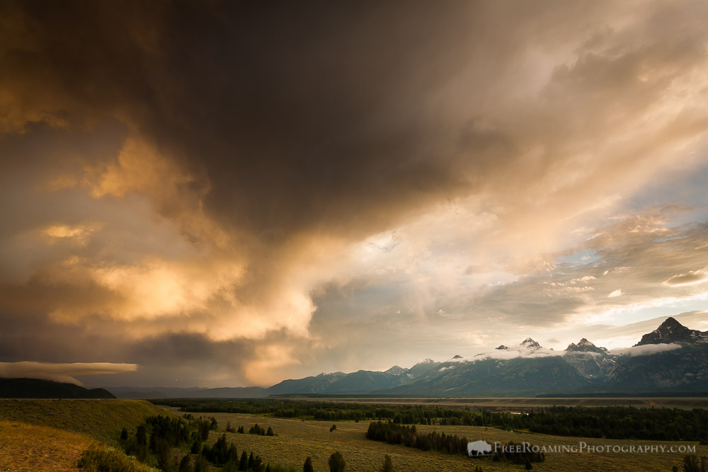 Rain Showers over Antelope Flats