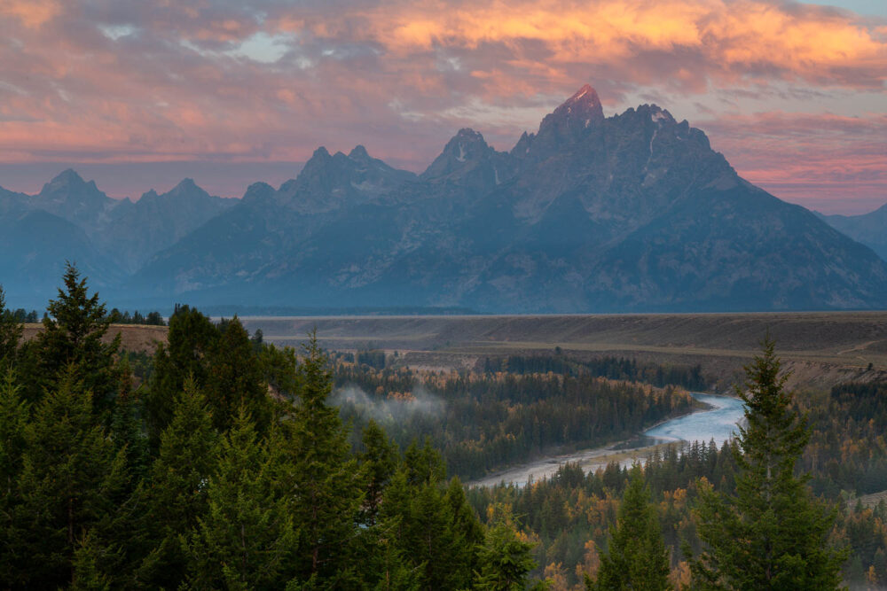First Light Above the Snake River Overlook