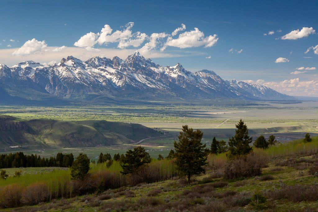 Teton Mountains Rising Out of Jackson Hole